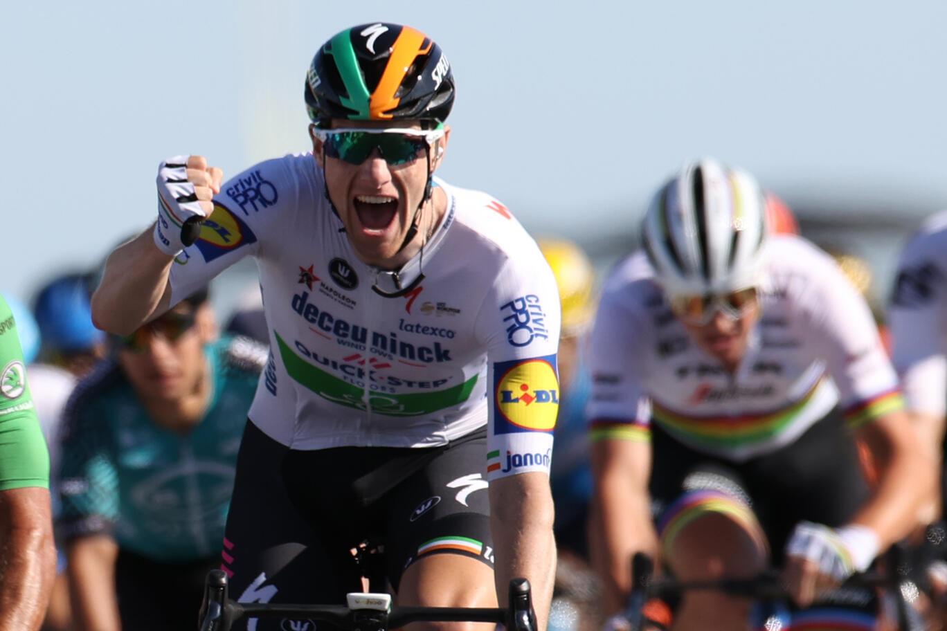 Sam Bennett won the 10th stage of the 2020 Tour de France after a 170km ride between the Ile d'Oléron and the Ile de Ré.