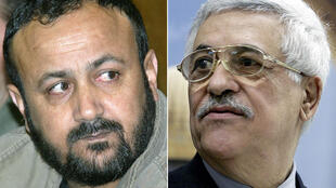 Jailed popular Palestinian leader Marwan Barghouti (L) seen in this 2002 picture is backing challengers opposing Palestinian president Mahmud Abbas (R), in upcoming elections