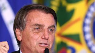 El presidente brasileño, Jair Bolsonaro, el 29 de junio de 2021 en el Palacio Planalto en Brasilia