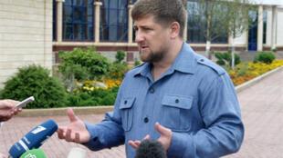 Le président tchétchène Ramzan Kadyrov, à Grozny, le 11 août 2009.