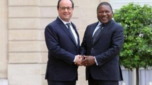 Encontro de François Hollande, presidente de França, com Filipe Nyusi, presidente de Moçambique. 20/07/15