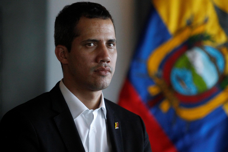 Le président par intérim autoproclamé du Venezuela Juan Guaido, le 2 mars 2019 à Salinas, en Equateur.