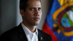O líder opositor e presidente autoproclamado da Venezuela, Juan Guaidó, em 2 de março de 2019.