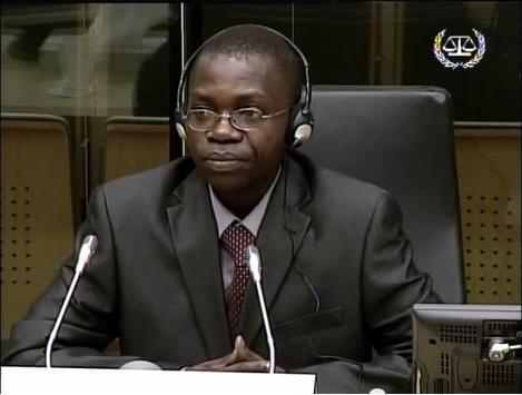 Le Congolais Floribert Njabu témoigne lors d'une séance au Tribunal pénal international (La Haye), entre le 4 et 8 avril 2011.