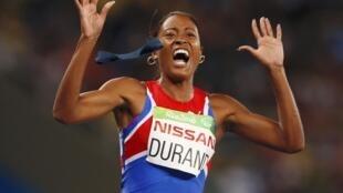 La cubana Omara Durand ganó dos medallas de oro, al imponerse en las pruebas de los 100 y 200 metros T12.