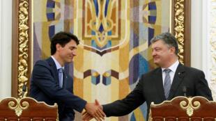 Джастин Трюдо и Петр Порошенко в Киеве 11 июля 2016