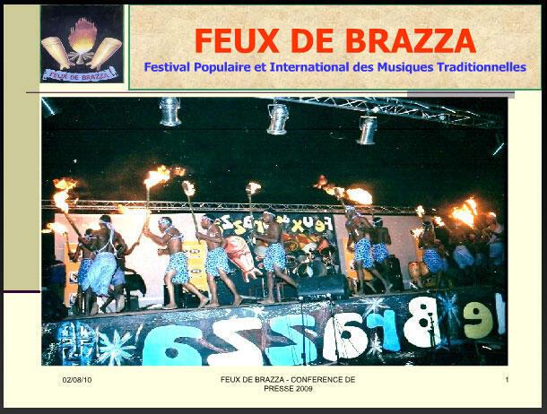 Aperçu d'un spectacle, lors d'une des éditions du Festival les «Feux de Brazza» au Congo-Brazzaville.