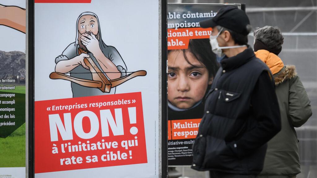 Suisse: les référendums sur les ventes d'armes et les multinationales responsables rejetés