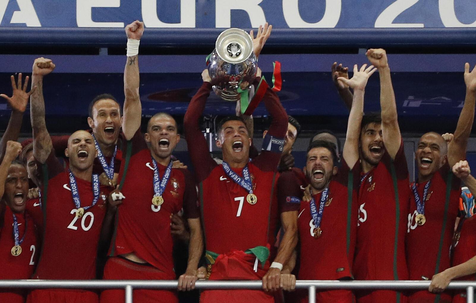Portugal conquistou o título europeu em 2016.