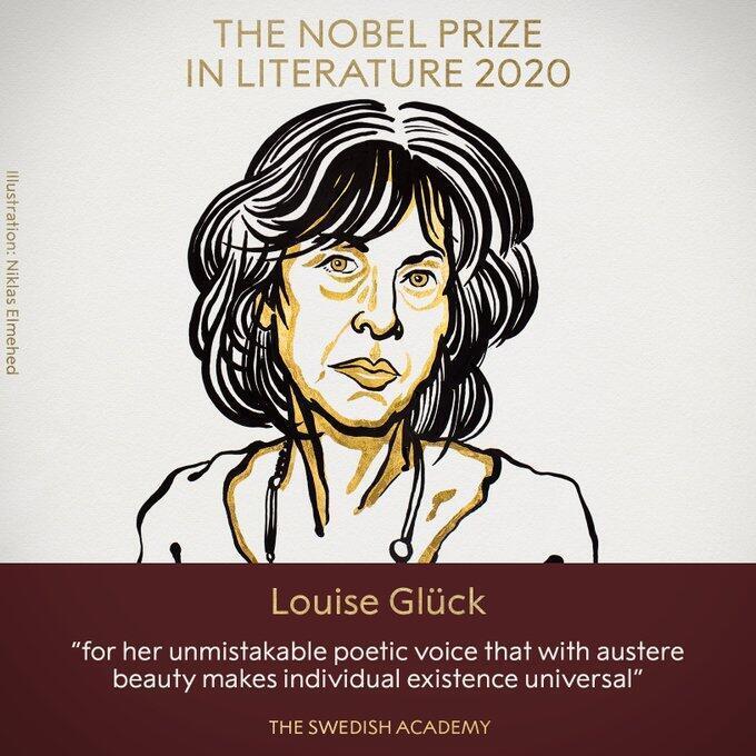 Zanen Louise Glück marubuciya kuma mawakiyar da ta lashe kyautar Nobel bangaren adabi.