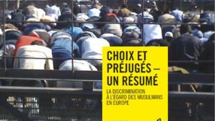 Cartaz do relatório da Anistia Internacional sobre a discriminação contra os muçulmanos na Europa.