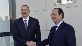 Ильхам Алиев и Франсуа Олланд в Баку 11/05/2014