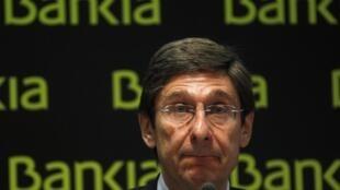 José Ignacio Goirigolzarri, director general de Bankia, en Madrid, el 26 de mayo de 2012.