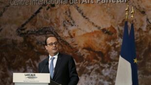 """سخنرانی فرانسوا هولاند، رئیس جمهوری فرانسه در روز افتتاح """"لاسکو-٤"""". شنبه ١٠ دسامبر ٢٠۱۶"""