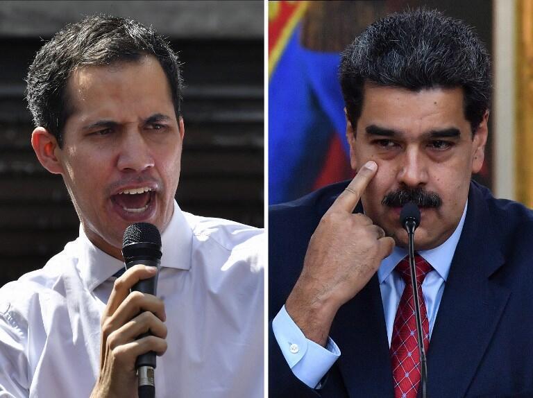 Nicolas Maduro (droite) accuse Juan Guaido de vouloir l'assassiner et menace de le faire arrêter.