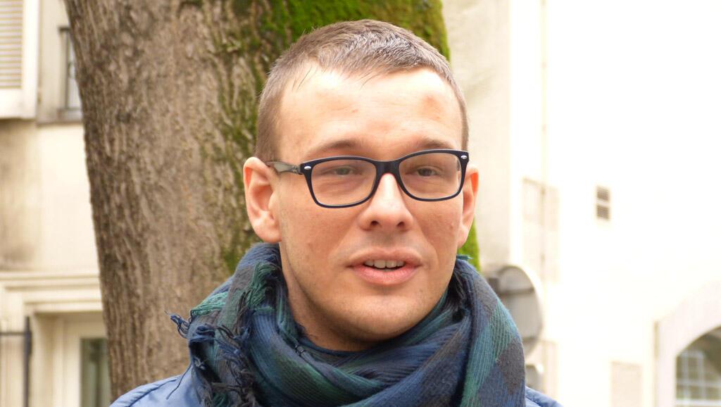 O estudante chileno Luis.