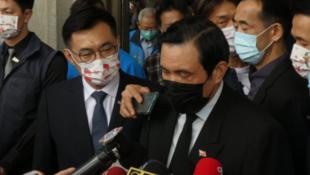 台灣前總統馬英九與國民黨主席江啟臣資料圖片