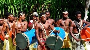 Members of the Papuan ethnic group in Indonesia.