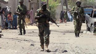 Dakarun Najeriya dake yaki da Boko Haram a Baga