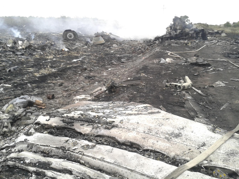 Eneo la tukio,  ilipopata ajali ndege ya Malaysia Airlines baada ya kudunguliwa katika jimbo la de Donetsk, Julai 17 mwaka 2014