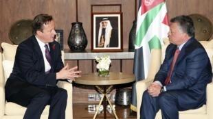 Em viagem oficial ao Oriente Médio, o primeiro-ministro britânico, David Cameron, encontrou-se com o rei da Jordânia, Abdullah II, no Palácio Real em Amman.