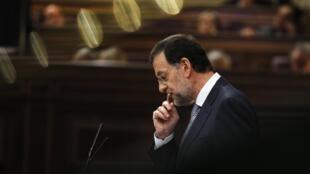 Mariano Rajoy devant le Parlement espagnol, le 11 juillet 2012.