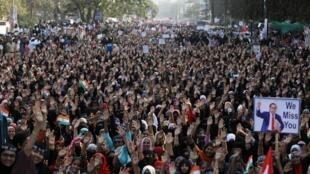 Des manifestants contre la loi sur la citoyenneté à Bombay, le 26 janvier 2020.