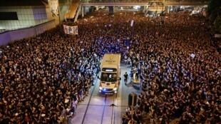 有亚洲普立兹奖之称的SOPA新闻奖日前宣布2020年得奖名单,法新社这张香港反修例运动的照片获得优越大奖。