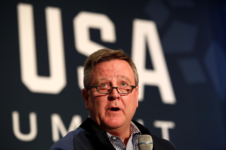 Scott Blackmun, le patron d'un comité olympique américain critiqué dans le dossier Larry Nassar.