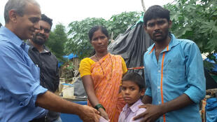 A child is reunited with his family after having run away for several months