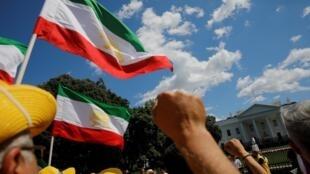 Manifestation de soutien à l'Iran devant la Maison Blanche à Washington, le 21 juin 2019.