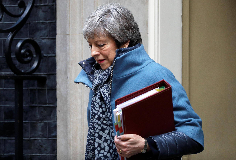 A primeira-ministra britânica Theresa May, em 3 de abril de 2019.