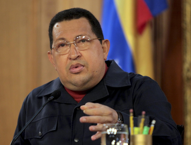 El presidente saliente Hugo Chávez.