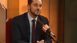 Nicolas Bay, député européen de Rassemblement national sur RFI, le 18 septembre 2018.