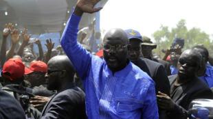 Le Libérien George Weah.