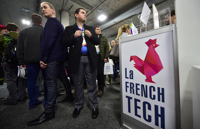 La «French Tech» à l'Eureka Park, lors du CES 2017.
