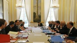 Le Conseil de la Défense, le mercredi 29 avril 2015.