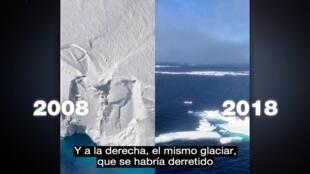 Fotos que intentaban demostrar el derretimiento del hielo antártico en 10 años