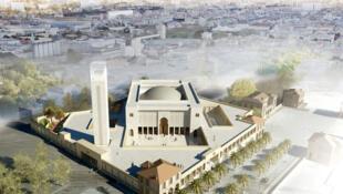 Grande Mosquée de Marseille (vue aérienne).
