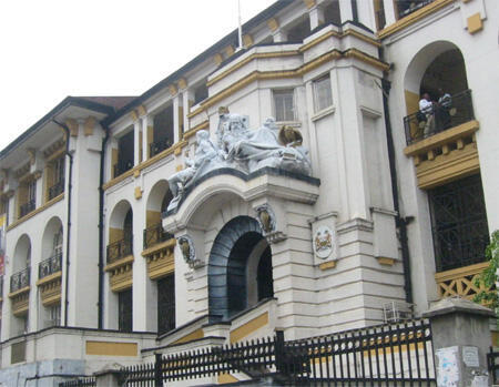 Freetown law court, where Haja Afsatu Kabba faced her hearing.