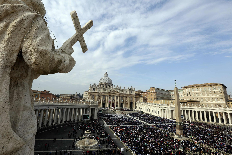 Quảng trường Saint Peter, Tòa thánh Vatican ngày 23/11/2014.