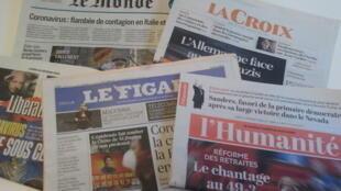Primeiras páginas dos jornais franceses 24 de fevereiro de 2020