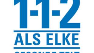 Le logo néerlandais du numéro d'urgence européen.