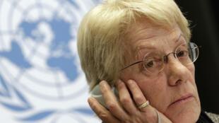 Carla del Ponte, miembro de la comisión de investigación de la Naciones Unidas  sobre las violaciones de derechos humanos en Siria.