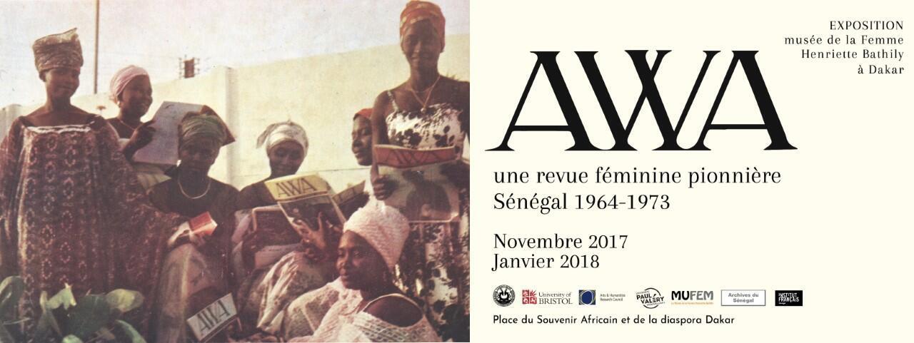 Détail de l'affiche de l'exposition consacrée à la revue «Awa», qui se tient jusqu'en janvier 2018 au Musée de la Femme-Henriette Bathily à Dakar.