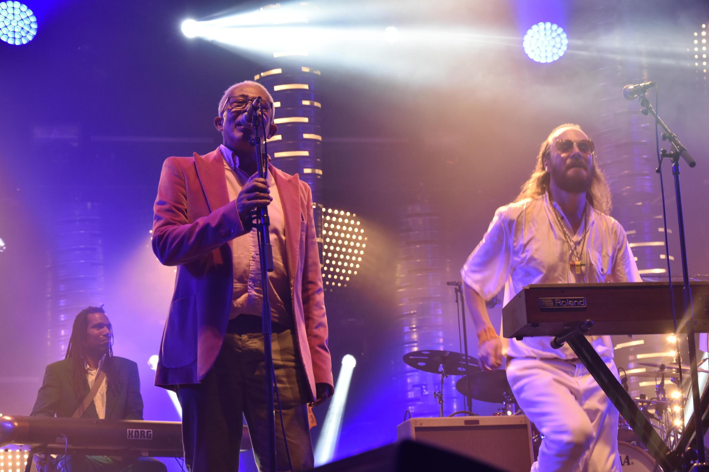Américo Brito (a esquerda)  e Arp Frique nas Trans Musicais de Rennes.08 de Dezembro de 2018