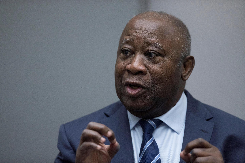O antigo Presidente  da Costa do Marfim Laurent Gbagbo, perante o Tribunal Penal Internacional no dia 15 de Janeiro de 2019.