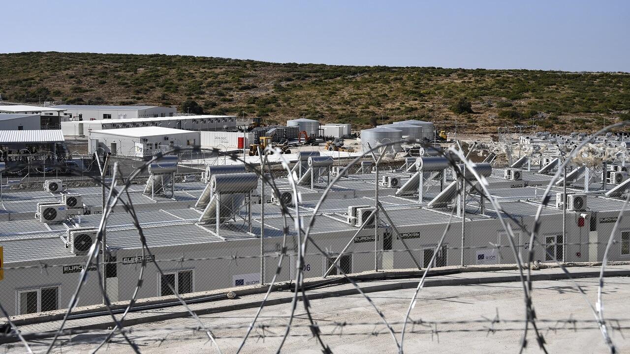 PHOTO Nouveau centre pour demandeurs d'asile à Samos, en Grèce - 18 septembre 2021