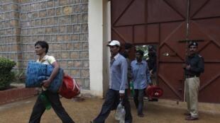 Les pêcheurs indiens ont quitté leur prison de Karachi vendredi 23 août.