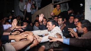 محمود احمدی نژاد در مشهد